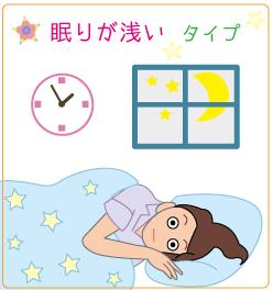 不眠・眠りが浅いタイプ