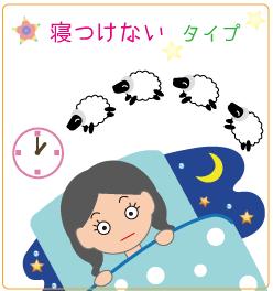 不眠・寝つけないタイプ